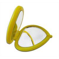 Professional manufacturer of vanity pocket handbag makeup mirror, heart shape and double-sided