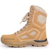 leather upper rubber sole military boot ZD201