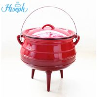 Enamel cast iron potjie pot with 3 legs