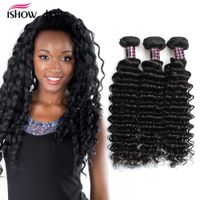 Ishow Hair Deep Wave Virgin Brazilian Human Hair 3 Bundles