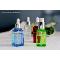Scratch-Resistant Thick Wall Cylinder Square Plastic Essential Oil Bottle With Dropper