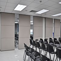 Sliding Aluminium Frame Fabric Office Partition Wall