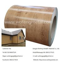 DX51D Wood Grain PPGI PPGL Prepainted Galvanized Steel Coil For Building Material