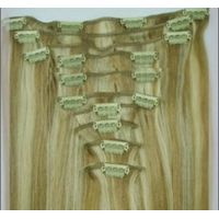 100% high quality clip on hair extension
