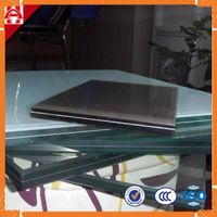4+4mm 5+5mm 6+6mm tempered laminated glass