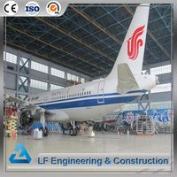 Airport terminal long span roof steel space frame