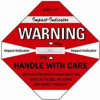 New Impact Indicator Sticker Shockwatch Label Sensor Sensor Shipping Label