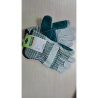 cowsplit leather gloves with reinforcement