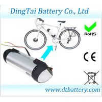 Bottle 36V 10Ah Lithium ion  INR18650 2000mAh e-bike battery pack with BMS