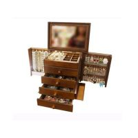 Walnut Wooden Jewelry Chest