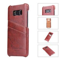 Fashion Samsung S8 PU leather case with back card slots