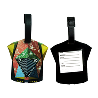 Social audited factory cartoon design durable waterproof custom silicone rubber luggage tag