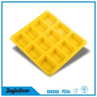 12-Cavity Silicone Mold for Soap, Bread, Loaf, Muffin, Brownie, Cornbread, Cheesecake