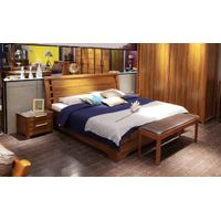 simple and modern style wood bed