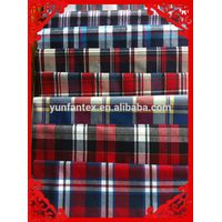 fashion latest new Italy design pattern 100%cotton check fabric