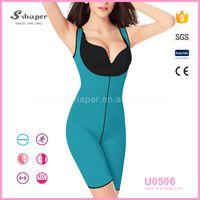 S-shaper Fitness Sport wear Full Bodysuit Corset Hot Women Ultra Sweat Neoprene Vest Bodysuit U0506 thumbnail image