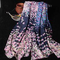 silk printed chiffon georgette scarf