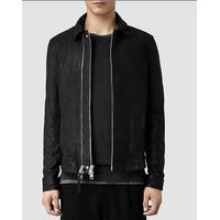 new fashion design black genuine leather jacket for men from china supplier