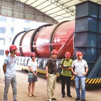 Triple Cylinder and Drum Drying Equipment Type sewage sludge dryer