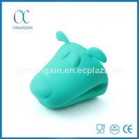 Funny Dog Head Shape Oven Glove Cooking Barbecue Silicone Oven Mitts