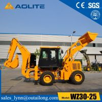 Chinese Factory Small Excavator Towable Backhoe Loader Wz30-25 thumbnail image