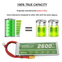 OEM 7.4v 2600mah lithium polymer lipo battery for rc helicopter