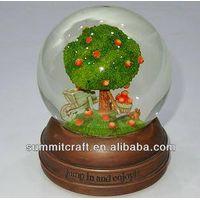 Custom made polyresin glass snow water globe thumbnail image