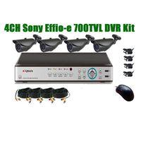 4CH Sony 700TVL CCTV IR camera H.264 DVR kit in 30m IR distance waterproof