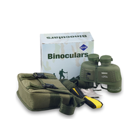 Discovery Marine Military Binoculars Waterproof with Compass Rangefinder BAK4 Prism FMC Lens