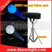 230W manually chasing follow spot light stage lighting LED wedding tracker FS-230 thumbnail image