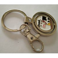 Rotating metal key chain