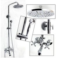 Two Handles Wall Mounted Shower Kit With Rain Showerhead YL14 thumbnail image
