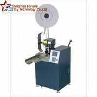 Automatic Dual Wires Feeding Single-end Terminal Crimping Machine