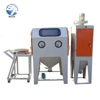 Manual Fixed Turntable Type Sandblasting Machine Cabinet for Mould Cleaning