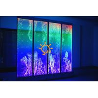 H3W3m Digital-Controlled LED dancing bubble screen and room divider wall for commercial project