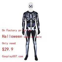 Fortnite Skull Trooper cosplay costume Halloween special sale