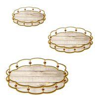 new design serving tray, metal mirror tray thumbnail image
