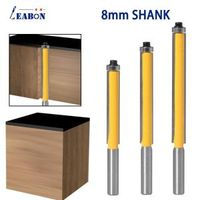 8mm Shank 3/8 Long Straight Router Bit with Bearing Tungsten Carbide Tipped Milling Cutter for Wood