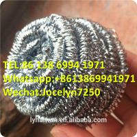 Stainless steel scourer for kitchen usage