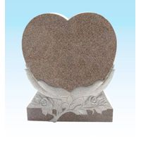 red heart shaped headstones
