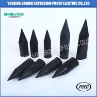 Black dust-proof PVC shroud for cable gland