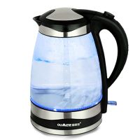 Glass kettle with blue LED light BL18B