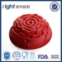 Silicone big rose cakemold