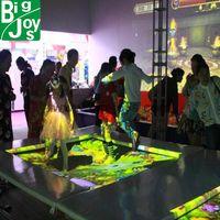 Fun indoor interactive trampoline projection