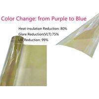 VLT75% Chameleon Window Tint Film SRC Color:Purple to Blue