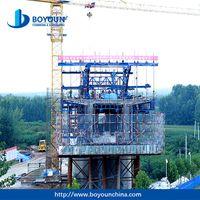 form traveler for continous prestressed precast concrete bridge construction shutters