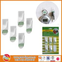 removable adhesive clear small decorative hooks/square wall hooks