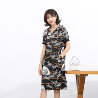 FUKESI2020 summer women's dress dresses women's mother dress zebra print dress thumbnail image