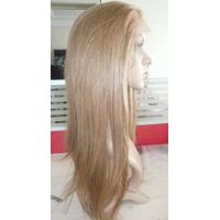 "12"" silky straight 613 Full lace wigs 100% Indian Remy human hair"