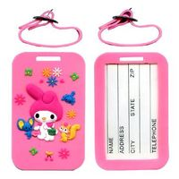 Soft PVC luggage tags with 3D thumbnail image